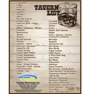 Tavern Checklist